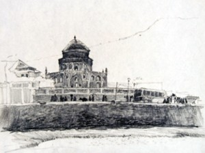 A sketch from her travels to Afghanistan, 1968